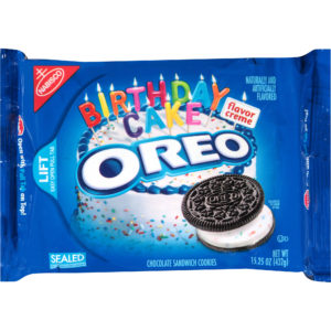 Oreo Birthday Cake Chocolate Sandwich Biscuits Blue