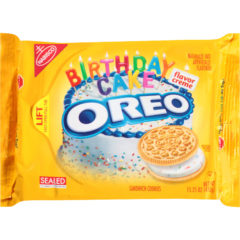 Oreo Birthday Cake Sandwich Cookies Yellow