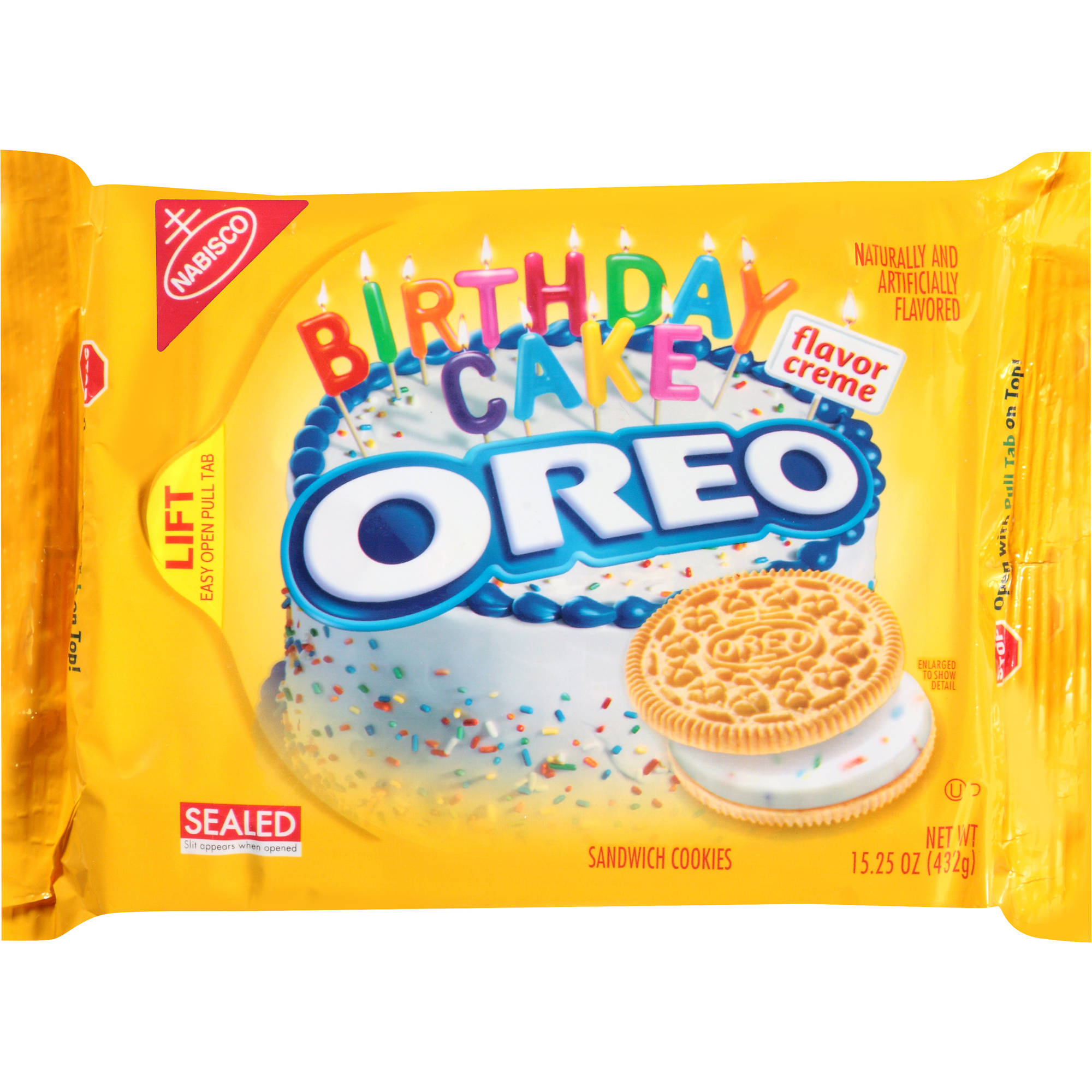 Oreo Birthday Cake Sandwich Cookies Yellow Here For A Good Deal