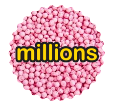 Millions Raspberry Purple Tube