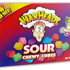Warheads Sour Chewy Cubes Box