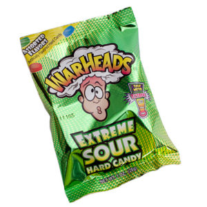 Warheads Extreme Sour Hard Candy Green