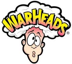 Warheads Sour Chewy Cubes Purple Packet