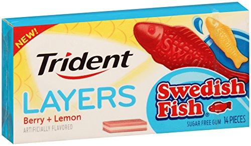Trident Layers Swedish Fish Berry&Lemon