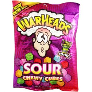 Warheads Sour Chewy Cubes 5oz (141g)