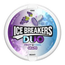 Ice Breakers Duo Fruit+Cool Grape Sugar Free Mints