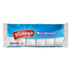 Mrs Freshleys Mini Dounuts powdered sugar 3 OZ( 85g )
