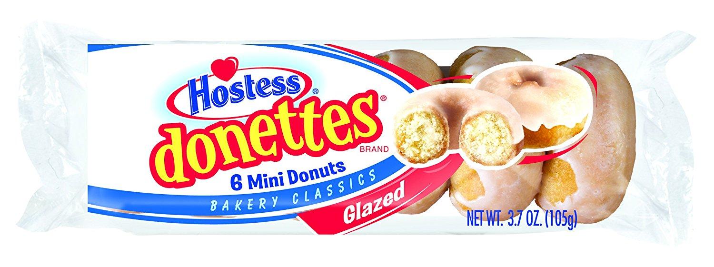 Hostess Donettes 6 Mini Dounuts Glazed 3.7 (105g)