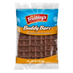 Mrs Freshley Buddy Bars Peanut Butter Wafers 3 OZ (85g )