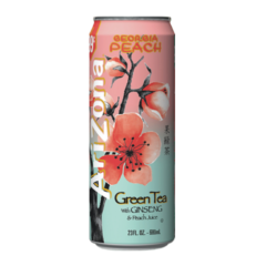Arizona Georgia Peach – Green Tea with Ginseng & Peach Can 680ml