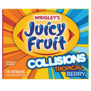 Juicy Fruit Collisions Tropical Berry 40g