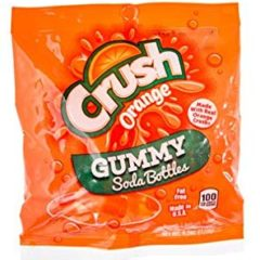 Orange Crush Gummy Soda Bottles 127g