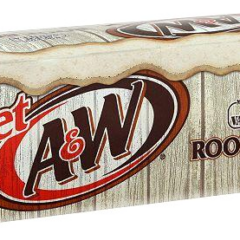 A&W Root Beer Diet Cases of 12