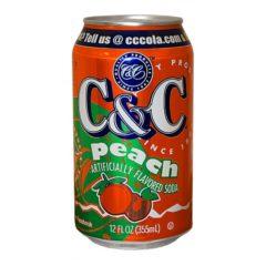 C&C Peach 12 FL OZ 355ml