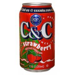 C&C Strawberry 12 FL OZ 355ml