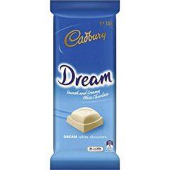 Cadbury Dream White Chocolate Australian Chocolat Bar Block 180g