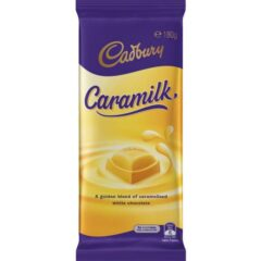 Cadbury Caramilk Australian Chocolate Bar 180g Block