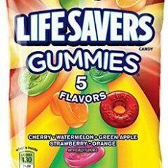 Lifesavers Gummies 5 Flavours 198g Peg Bag