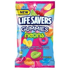 Lifesavers Gummies Neons 198g Peg Bag